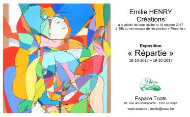 Emilie Henry Créations Exposition Répartie La Hulpe