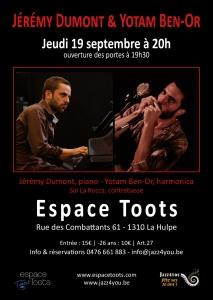 JérémyDumont-Yotam Ben Or Espace Toots septembre 2019